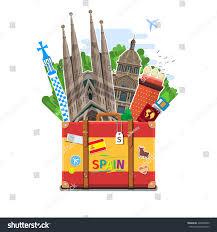 concept travel spain studying spanish spanish stock vector