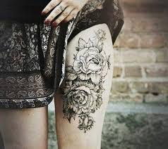 195 top thigh tattoos for