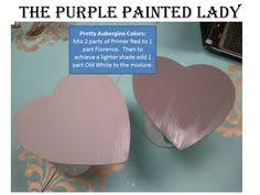 recipe to create aubergine or an eggplant custom chalk paint