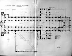 romanesque floor plan peterborough cathedral plan photo via http www antiqueprints