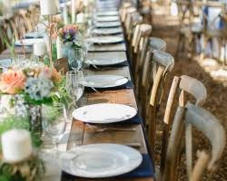 wedding tables and chairs for rent farm table rental by oconee events atlanta athens and lake oconee