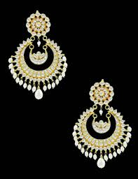 Buy Kundan Embellished Dangler Earrings Mirraw Jewellery Earrings Image Collections Jewelry Design Examples