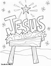 christmas coloring pages religious doodles