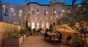 commercial building outside lighting landscape lighting brooklyn new york city new eco landscapes
