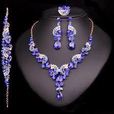 sapphire necklace set images Blue sapphire necklace earring set atperrys jpg