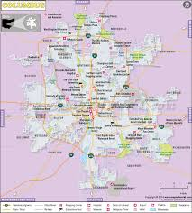 map of columbus columbus map the capital of ohio city map of columbus