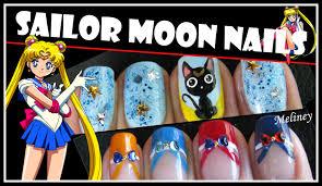 halloween nails sailor moon nail art design anime cartoon french