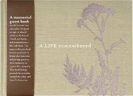 memorial guest book a remembered memorial guest book paper source