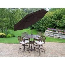 5 Piece Patio Bar Set by Rst Brands Deco 5 Piece All Weather Wicker Patio Bar Height Dining