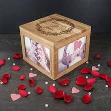 wedding gift keepsake box s personalised oak photo keepsake box with monogram luxe