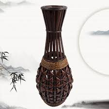 Large Floor Vases For Home Fashion Floor Vase Bamboo Braid Straw Rattan Vase Handmade Willow