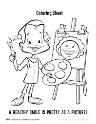 8 dental health coloring pages personal hygiene