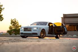 rolls royce gold and white luxurious white rolls royce wraith grabs attention with forged vps