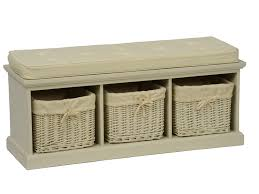 storage bench seat treenovation regarding with baskets and cushion