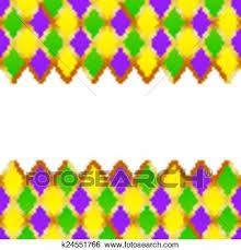 mardi gras frame clip of green purple yellow grid mardi gras frame k24551766