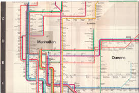 Massimo Vignelli Subway Map by Vintagetransitmaps
