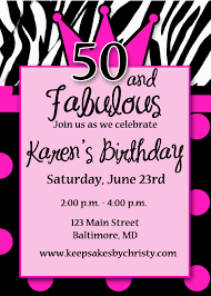 free 50th birthday invitation templates printable free printable