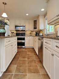 Download Tile Floor Kitchen White Cabinets Gencongresscom - Kitchen white cabinets