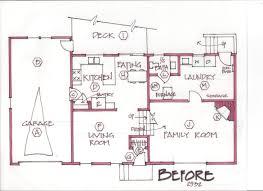 bi level floor plans with attached garage tri level floor plans awesome splitlevel addition and remodel