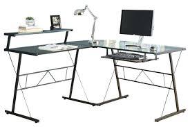 Black Glass Computer Desk Black Glass Computer Desk Ikea Metal Corner With Tempered