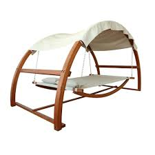 Modern Patio Swing Leisure Season Patio Swing Bed With Canopy Hammock Swing Canopy