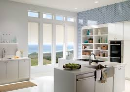 window exciting motorized shades for kitchen design with white