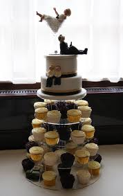 wedding cupcake tower with two tier top cake a photo on flickriver