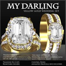 yellow gold wedding sets second marketplace exquisite my diamond yellow gold
