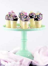 valentine ice cream cone cake pops sprinkle some fun