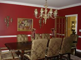 dining room attractive red wall dining room ideas with brown