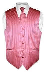 coral vest and tie coral pink vest and neck tie set