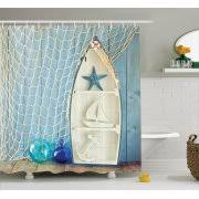 Vintage Style Shower Curtain Nautical Shower Curtains