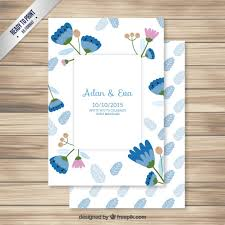 wedding invitations freepik wedding invitation with lovely flowers vector free