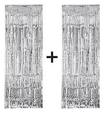 Silver Foil Curtains 2 X Big Large 3ft X 8ft Silver Fringe Foil Curtain Tassel