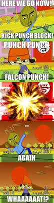 Falcon Punch Meme - parappa the rapper meme falcon punch by viraltyphlosion on