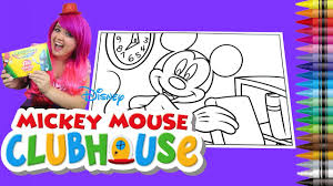 coloring disney mickey mouse clubhouse giant coloring book page