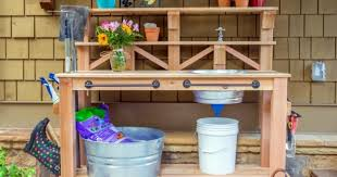 potting table with sink potting bench with sink sink designs and ideas