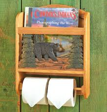 wood bear toilet paper holder and magazine rack best toilet designs