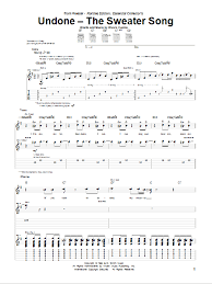 undone the sweater song lyrics undone the sweater song sheet direct