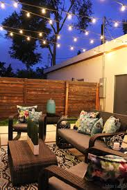 how to string cafe lights patio string lights outdoor style how to hang commercial grade