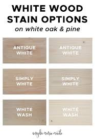 what stain looks on pine 3 white wood stain options angela made