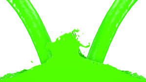 vivid green paint filling up screen alpha channel included full