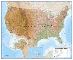 Usa Wall Map by Usa Wall Map Physical