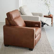 West Elm Henry Leather Sofa Fascinating Henry Leather Power Recliner Chair West Elm Rooms To