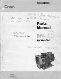 1983 fleetwood pace arrow owners manuals onan bfa rv genset parts