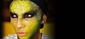 how to create a reptilian lizard makeup look for halloween