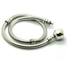 pandora style bracelet sterling silver images Sterling silver snake pandora style charm bracelet jpg