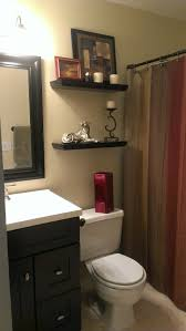 ideas to decorate a small bathroom small bathroom with earth tone color scheme ourhandiwork