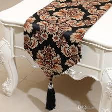 table runner for coffee table europe style embossed jacquard rustic table runner american style