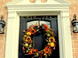the pink peony of le jardin oversized fall wreath from garland